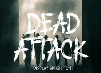 DEAD ATTACK Brush Font