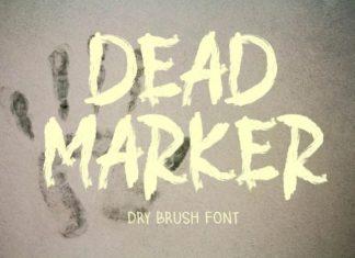 DEAD MARKER Brush Font