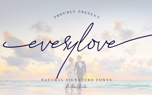 Everylove Handwritten Font