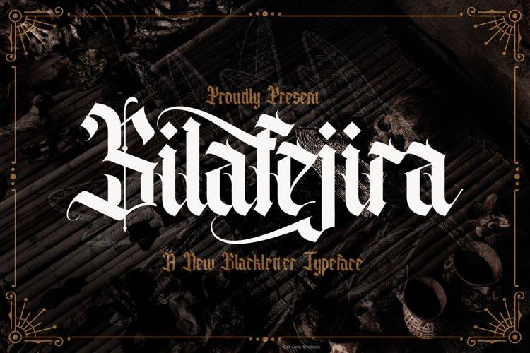 Silafejira Blackletter Font