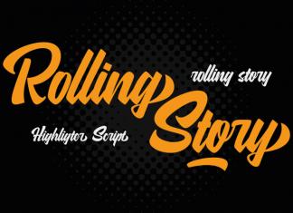Rolling Story Script Font