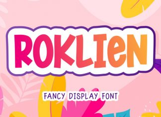 Roklien Display Font