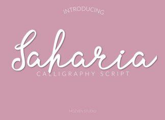 Saharia Script Font