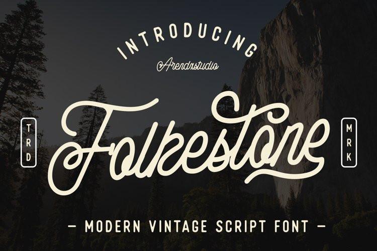 Folkestone Script Font