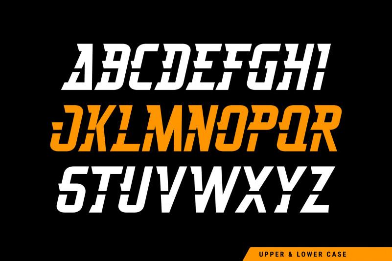 Thunderspeed Display Font