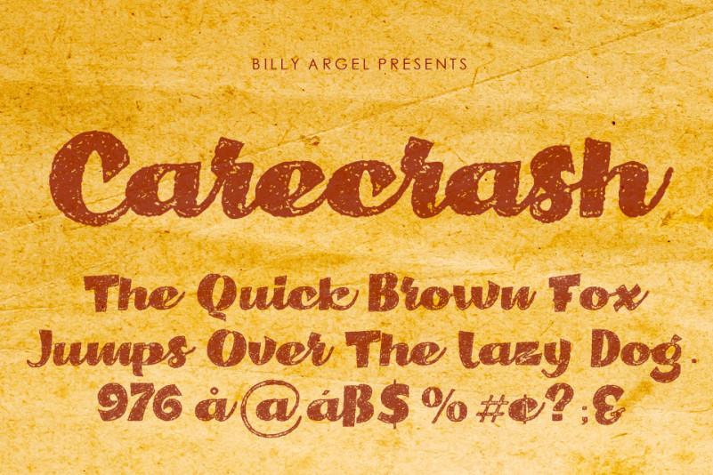 Carecrash Script Font