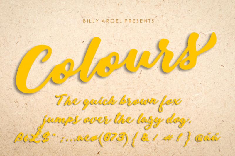Colours Script Font