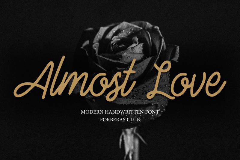 Almost Love Script Font