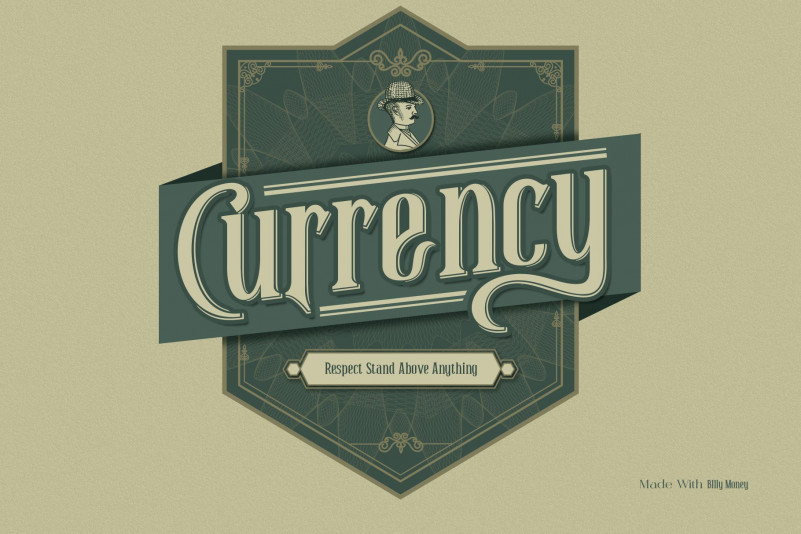 Billy Money Display Font