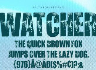 WATCHER Display Font