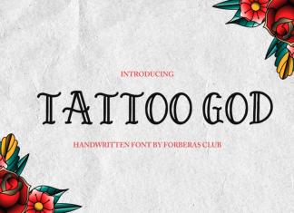 Tattoo God Display Font