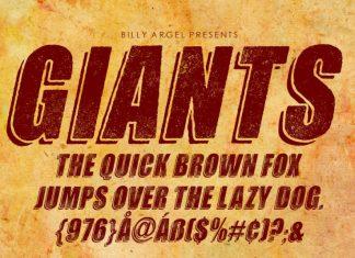 Giants Display Font