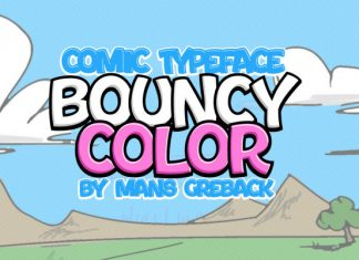 Bouncy Pink Display Font