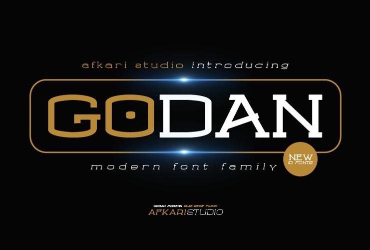 Godan Display Font