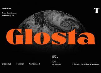 Glosta Serif Font