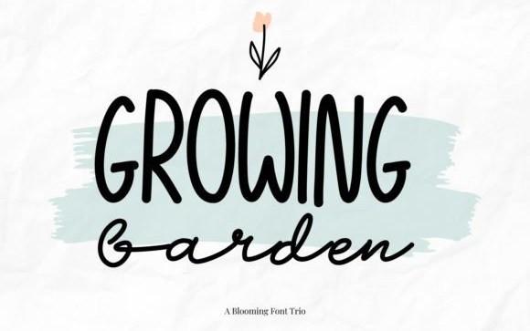 Growing Garden Handwritten Font