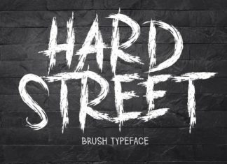HARD STREET Brush Font