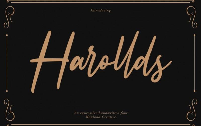 Harollds Handwritten Font
