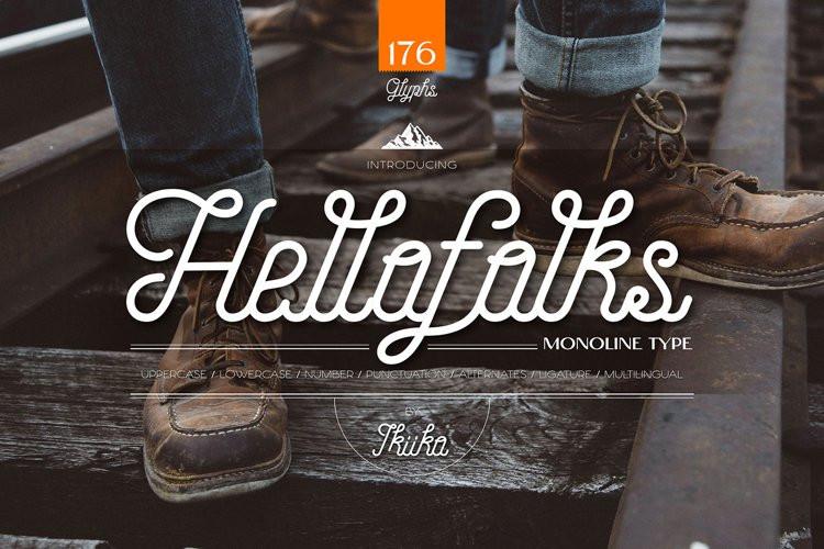 Hellofolks Script Font