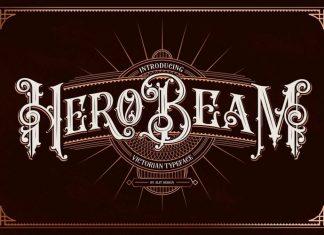 Hero Beam Display Font