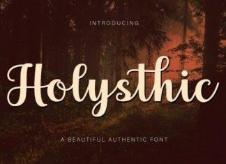Holysthic Script Font