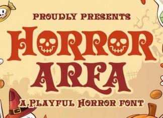 Horror Area Display Font