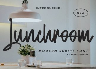 Lunchroom Script Font