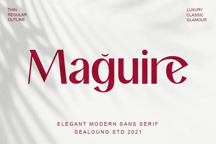 Maguire Sans Serif Font