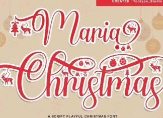 Maria Christmas Calligraphy Font