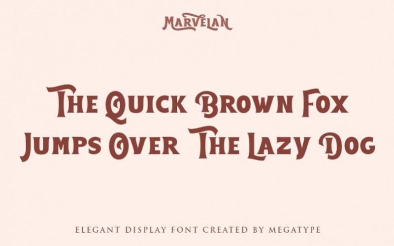 Marvelan Serif Font