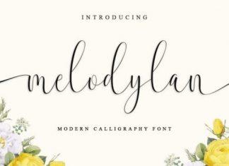 Melodylan Calligraphy Font