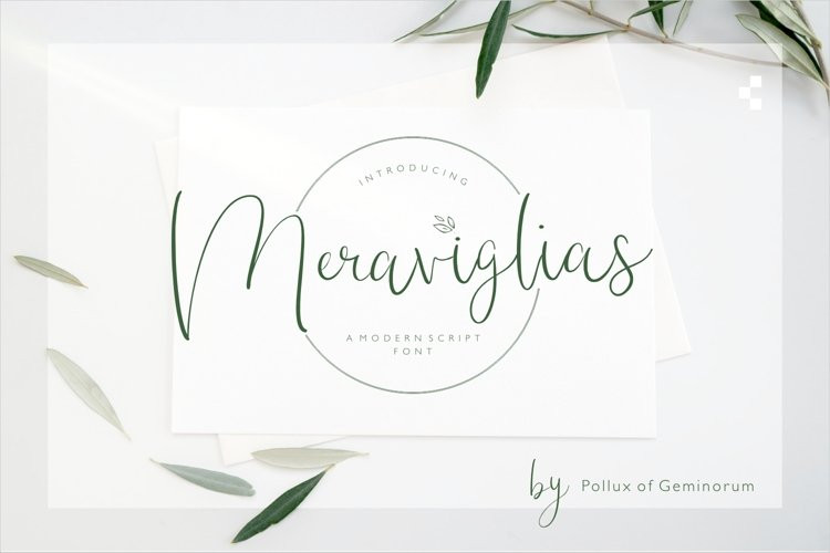 Meraviglias Script Font
