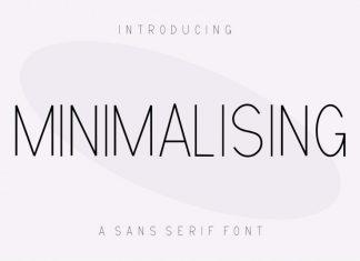 Minimalising Display Font