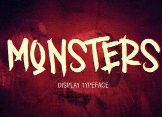 MONSTERS Display Font