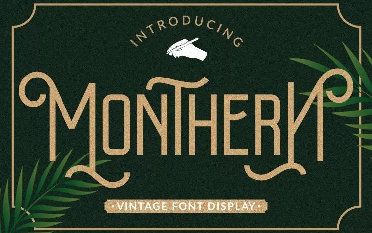 Monthren Display Font