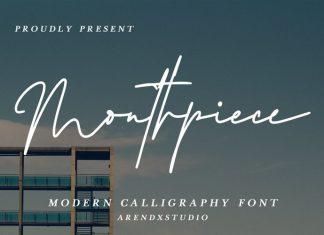 Mouthpiece Handwritten Font
