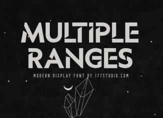 MULTIPLE RANGES Display Font