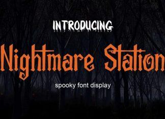 Nightmare Station Display Font
