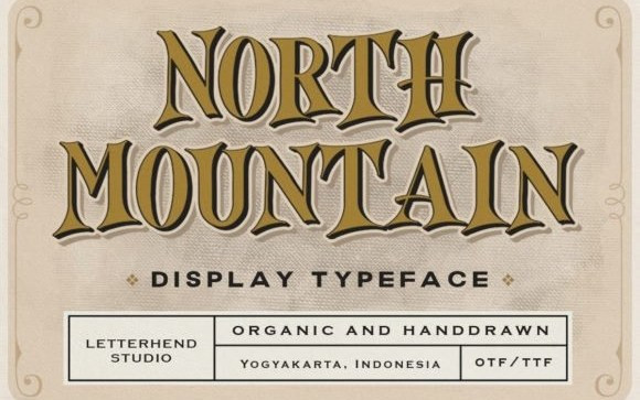 North Mountain Display Font