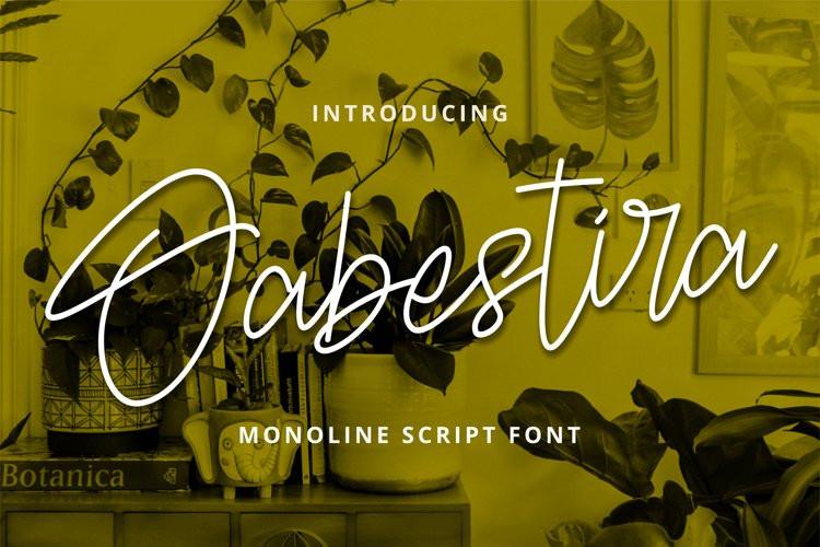 Oabestira Script Font
