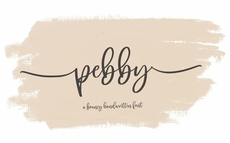 Pebby Script Font