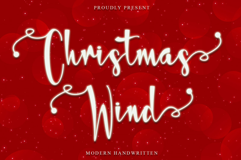 Christmas Wind Calligraphy Font