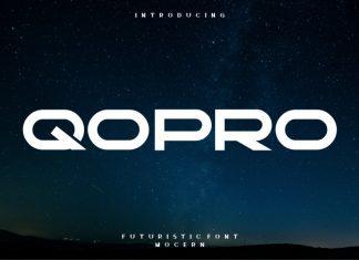 Qopro Display Font