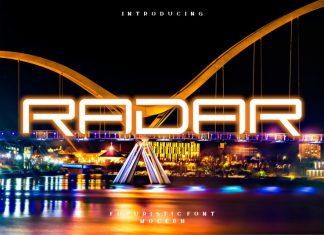 Radar Display Font