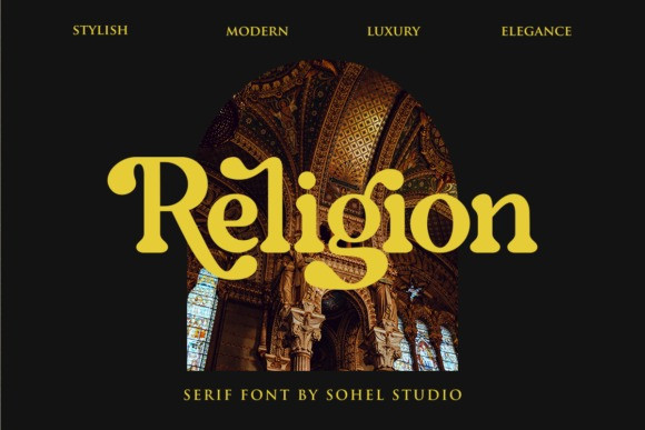 Religion Serif Font