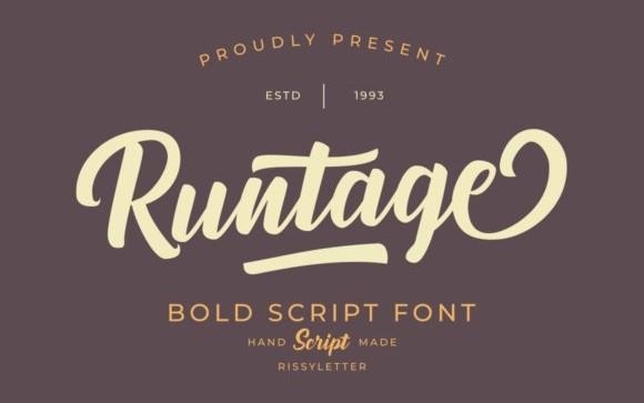 Runtage Script Font