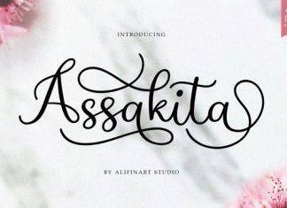 Assakita Calligraphy Font
