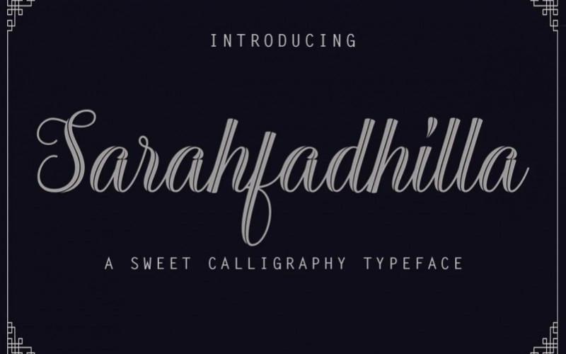 Sarahfadhilla Calligraphy Font