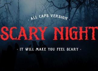Scary Night Display Font