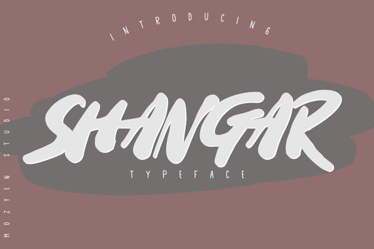 Shangar Brush Font